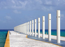 Alameda de Playa del Carmen Imagen de archivo libre de regalías