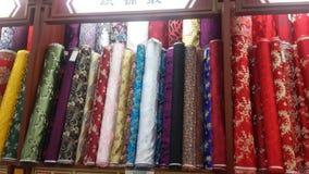 Alameda de seda famosa de Wangfujing en Pekín, China foto de archivo