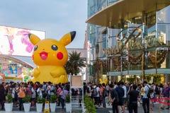 Alameda de Siam Paragon da visita dos clientes e Pokemon Festiva Imagem de Stock Royalty Free