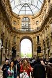 Alameda de Vittorio Emanuele, Milão Imagens de Stock Royalty Free