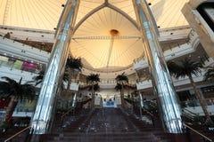 Alameda del centro de ciudad en Doha, Qatar fotografía de archivo libre de regalías