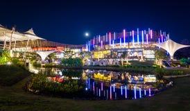 Alameda del centro turístico de Promenada de Chiang Mai, Tailandia 2013 Imagen de archivo libre de regalías