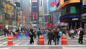 Alameda del peatón del Times Square Foto de archivo libre de regalías
