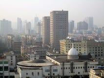 Alameda do negócio da construção da rua da cidade de Ningbo imagem de stock royalty free