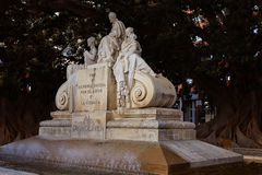 Alameda Doctor Moliner statue in Valencia. Of Spain Royalty Free Stock Photography