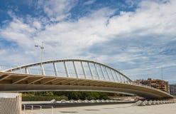 Alameda exposicion bridge on Turia in Valencia, Spain stock photos