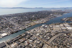 Alameda Island and the San Francisco Bay Aerial Royalty Free Stock Image