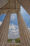 Alameda nacional de Lincoln Memorial em V-E Day Celebration Foto de Stock Royalty Free