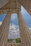 Alameda nacional de Lincoln Memorial en V-E Day Celebration Foto de archivo libre de regalías
