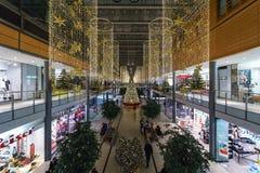 Alameda nueva y moderna de Arkaden - de compras en Potsdamer Platz Foto de archivo libre de regalías