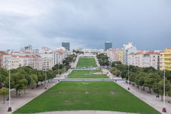 Alameda parkerar i Lissabon Portugal royaltyfri foto