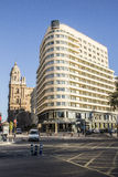 Alameda Principal, Malaga. The Alameda Principal is an important avenue that crosses part of the downtown of the city of Malaga Royalty Free Stock Image