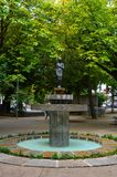Alameda Public Garden in Guimaraes, Portugal. Alameda Public Garden in the center of the city Guimaraes, Portugal Stock Photo