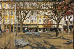 Alameda square. Guimaraes. Portugal Royalty Free Stock Image