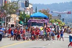 Alameda 4ta del desfile 2017 de julio Foto de archivo libre de regalías