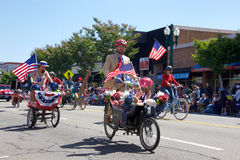 Alameda 4th of July Parade 2017. Alameda, CA - July 04, 2017: Unidentified participants in the Alameda 4th of July Parade, one of the largest and longest Royalty Free Stock Photo