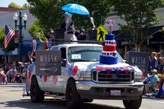 Alameda 4th Lipiec parada 2017 Fotografia Royalty Free