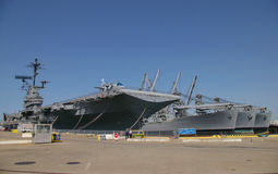 ALAMEDA, USA - MARCH 23, 2010: Museum aircraft carrier Hornet anchored in Alameda, USA on March 23, 2010. Stock Photography