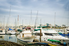 Alameda yacht club boat dock. In spring Stock Photo