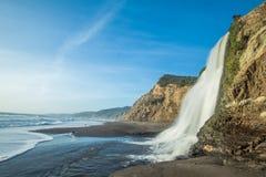 Alamere-Fälle, Marin County, Punkt Reyes National Seashore lizenzfreie stockbilder