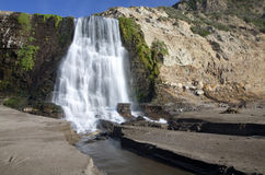 Alamere Falls. A time exposure image of Alamere Falls, Palomarin Trailhead, Point Reyes National Seashore, Marin County, Northern California, United States of Stock Images