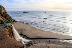 Alamere Falls, Marin County. View of Alamere Falls, Point Reyes National Seashore, Marin County Stock Photo