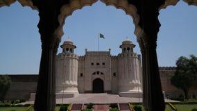 Alamgiri port av det Lahore fortet, Punjab, Pakistan Royaltyfri Fotografi