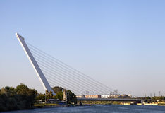 Alamillo bridge over Guadalquivir, Seville. Spain stock image