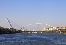 Alamillo bridge over Guadalquivir, Seville Royalty Free Stock Image