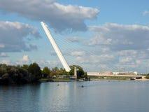 Alamillo brug in Sevilla, Spanje Royalty-vrije Stock Fotografie