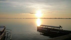 Alaminos soluppgång Arkivbild