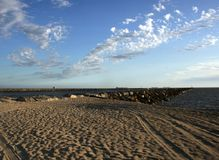 Alamitos Bay. Clouds, sky and sand, Alamitos Bay, Long Beach, CA Royalty Free Stock Photos