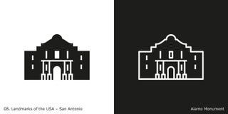 Alamo à San Antonio illustration de vecteur