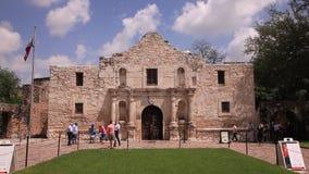 Alamo στο San Antonio, TX, ΗΠΑ απόθεμα βίντεο