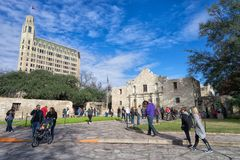 Alamo в Сан Антонио Техасе Стоковые Изображения RF