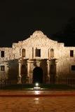 Alamo на ноче в Сан Антонио Техас Стоковое Изображение RF