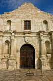 The Alamo. Front view of the Alamo in San Antonio, Texas, site of the 1836 battle for Texas independence against Santa Anna and his Mexican army royalty free stock photo