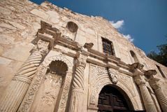 The Alamo. Details of the exterior of the Alamo in San Antonio, Texas royalty free stock photos