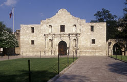 The Alamo. Exterior of the Alamo in San Antonio, Texas, USA, is one of the most popular tourist destinations in the state. It is where one of the most famous Royalty Free Stock Photos