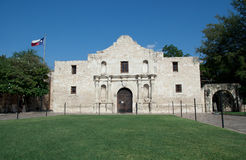 Alamo. Main entrance to the Alamo in San Antonio Texas royalty free stock image