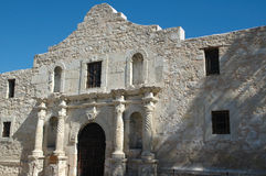 The Alamo. The front facade of the historic Alamo in San Antonio Texas. Remember the Alamo royalty free stock images