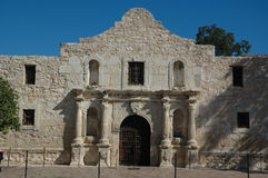 The Alamo. The front facade of the historic Alamo in San Antonio Texas. Remember the Alamo royalty free stock photo