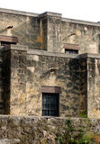 The Alamo. Side elevation of The Alamo in San Antonio, Texas royalty free stock photography