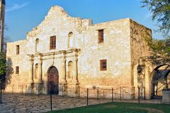 The Alamo. Located in San Antonio, Texas was the location of the great last stand by some of the biggest Texas Heroes Royalty Free Stock Photos