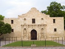 The Alamo. The historic Alamo mission in San Antonio, Texas, famous battleground of the Texas Revolutionary War royalty free stock photography
