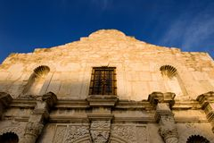 Alamo against a bright blue sky Royalty Free Stock Photo