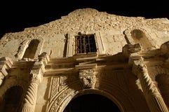 Alamo alla notte Fotografie Stock Libere da Diritti
