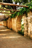 Alamo Arches. Walkway with arches at the Alamo in San Antonio, Texas Stock Images