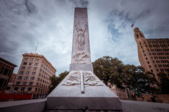 Alamo Cenotaph. In San Antonio, Texas, USA royalty free stock images