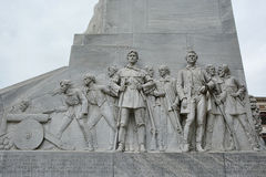 Alamo Cenotaph View. The Spirit of Sacrifice memorial at the Alamo in San Antonio Texas Royalty Free Stock Photo